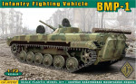 BMP-1 Soviet infantry fighting vehicle with rubber tracks (new molding)