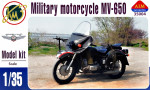 Soviet military motorcycle MV-650 with sidecar