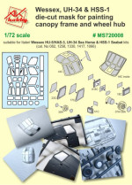 Mask for Wessex HU-5/HAS-3, UH-34 Sea Horse & HSS-1 Seabat for Italeri kit