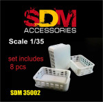 Accessories for diorama. Plastic crates