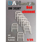 Accessories for diorama. Bed element, 8 pcs