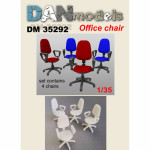 Accessories for diorama. Office chair 4 pcs