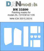 Painting masks for model Zil-131, ICM kit