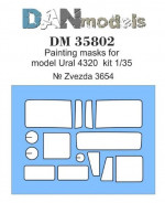 Painting masks for Ural-4320, Zvezda kit