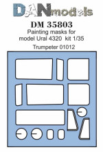 Painting masks for Ural-4320, Trumpeter kit