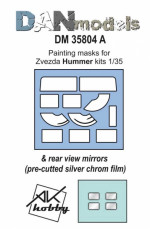 Painting masks & reeal view mirrors for Hummer, Zvezda kit