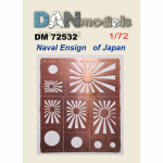 Photo-etching: Stencil for marking Naval Ensign of Japan