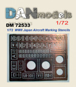 Photo-etching: Stencil for marking Japanese aircraft (World War II)