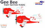 Gee Bee Super Sportster R1&R-2 (2 model kits in box)
