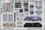 Photoetched set 1/48 A-37A interior (self adhesive), for Trumpeter kit