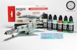 Paint Set Modern North Korean AF, 6 pcs with decals