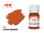 Acrylic paint ICM, Clear Orange, 12ml