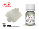 Acrylic paint ICM, Oily Steel Metallic, 12ml