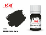 Acrylic paint ICM, Rubber Black 12ml