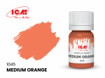 Acrylic paint ICM, Medium Orange, 12ml