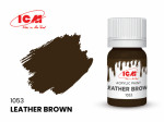 Acrylic paint ICM, Leather Brown, 12ml