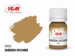Acrylic paint ICM, Green Ochre, 12ml