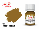 Acrylic paint ICM, Green Brown, 12ml