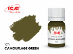 Acrylic paint ICM, Camouflage Green, 12ml
