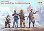 American Civil War Confederate Infantry (4 figures)