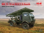 BM-13-16 on W.O.T. 8 chassis, WWII Soviet MLRS