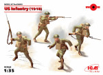 US Infantry 1918, (4 figures)