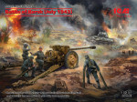 The Battle of Kursk (July 1943) with T-34-76 Soviet medium tank (early production) and Pak 36(r)