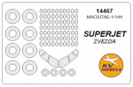 Mask 1/144 Superjet-100 and wheels masks