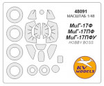 Mask for MiG-17F/PF/PFU + wheels, Hobby Boss kit