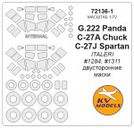 Mask 1/72 for G.222 Panda/C-27A Chuck/C-27J Spartan