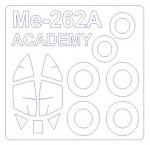 Mask for Me-262A-1a + wheels (Academy)