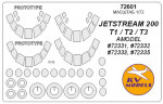 Mask 1/72 for Jetstream 200, T1/T2/T3