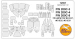 Mask 1/72 for FW-200C-3, FW-200C-4, FW-200C-8 Condor