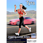 Jogging some miles. Tyra.