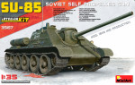 SU-85 Soviet self-propelled gun. Interior kit
