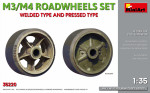 Wheels Set for tank M3/M4. Welded type and pressed type