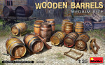 Wooden barrels. Medium size