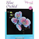 "Embroidery kit ""Blue Orchid"""