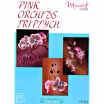 "Embroidery kit ""Triptych Pink Orchids"""