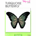 "Embroidery kit ""Turquoise Butterfly"""