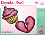 "Embroidery kit ""Cupcake. Heart"""