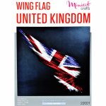 "Embroidery kit ""Wing Flag UK"""