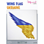 "Embroidery kit ""Wing Flag Ukraine"""