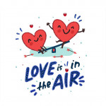 "Embroidery kit ""Love is in the air"""