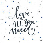 "Embroidery kit ""Love is all you need"""