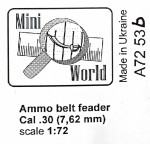 Ammo belts feader Cal .30 (7,62 mm), 8 pcs