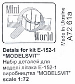 "Pitots for E-152-1 ""Modelsvit"""