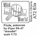 "Pitot and antenna for ""Piper"" PA-47 ""Amodel"""