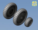 Wheels set for Bf-109 G6 (Main disk Type 2 - without Ribs)