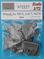 Wheels for M2/3, AAV7, M270, late